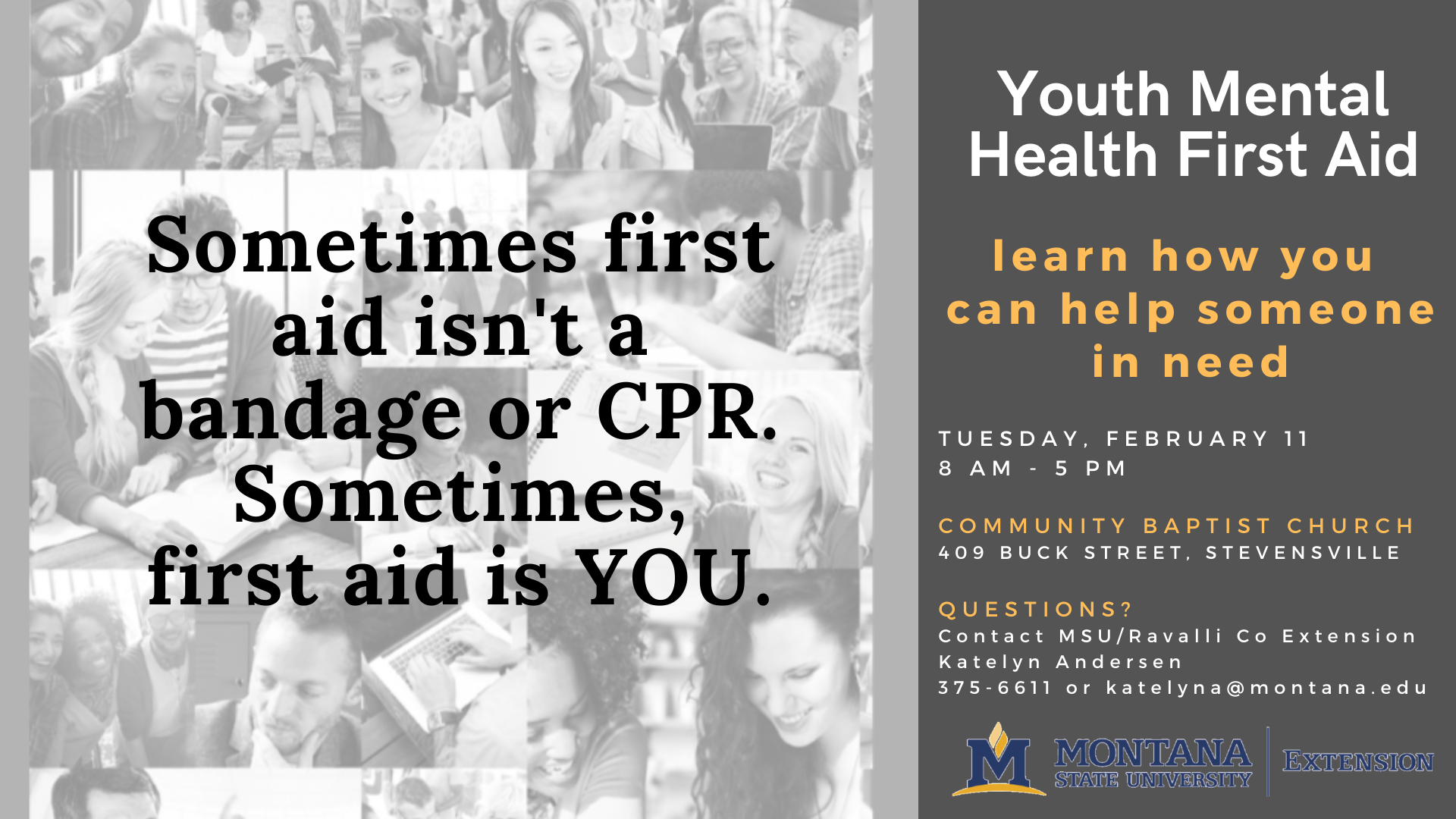 Youth Mental Health First Aid Class