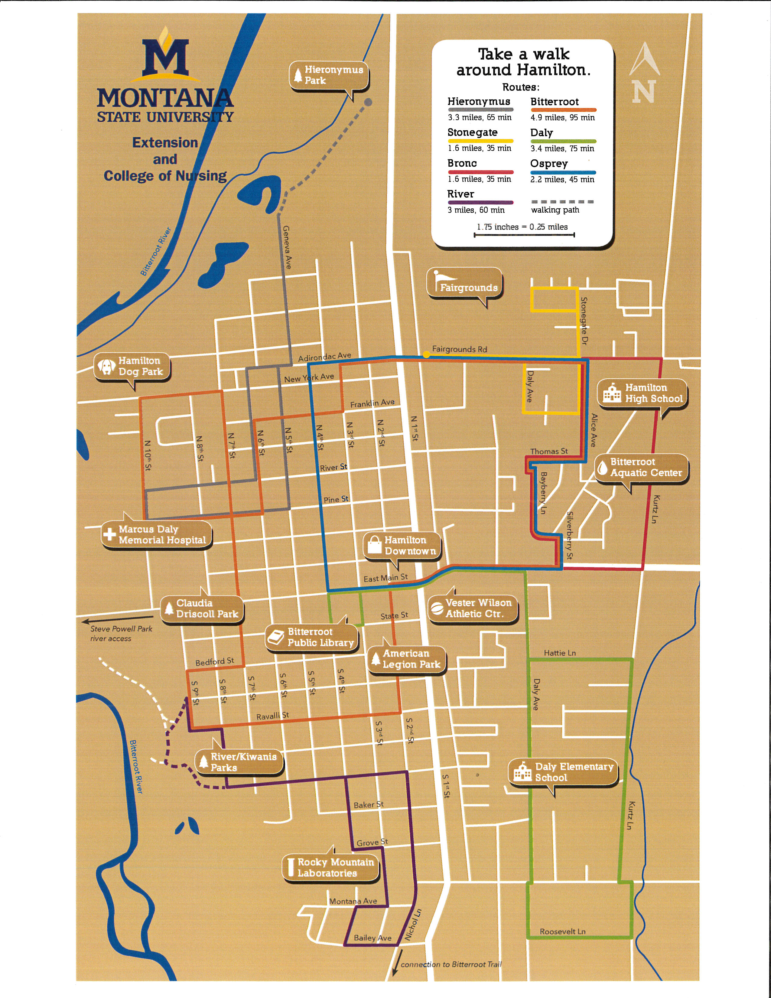 Hamilton Walking Map