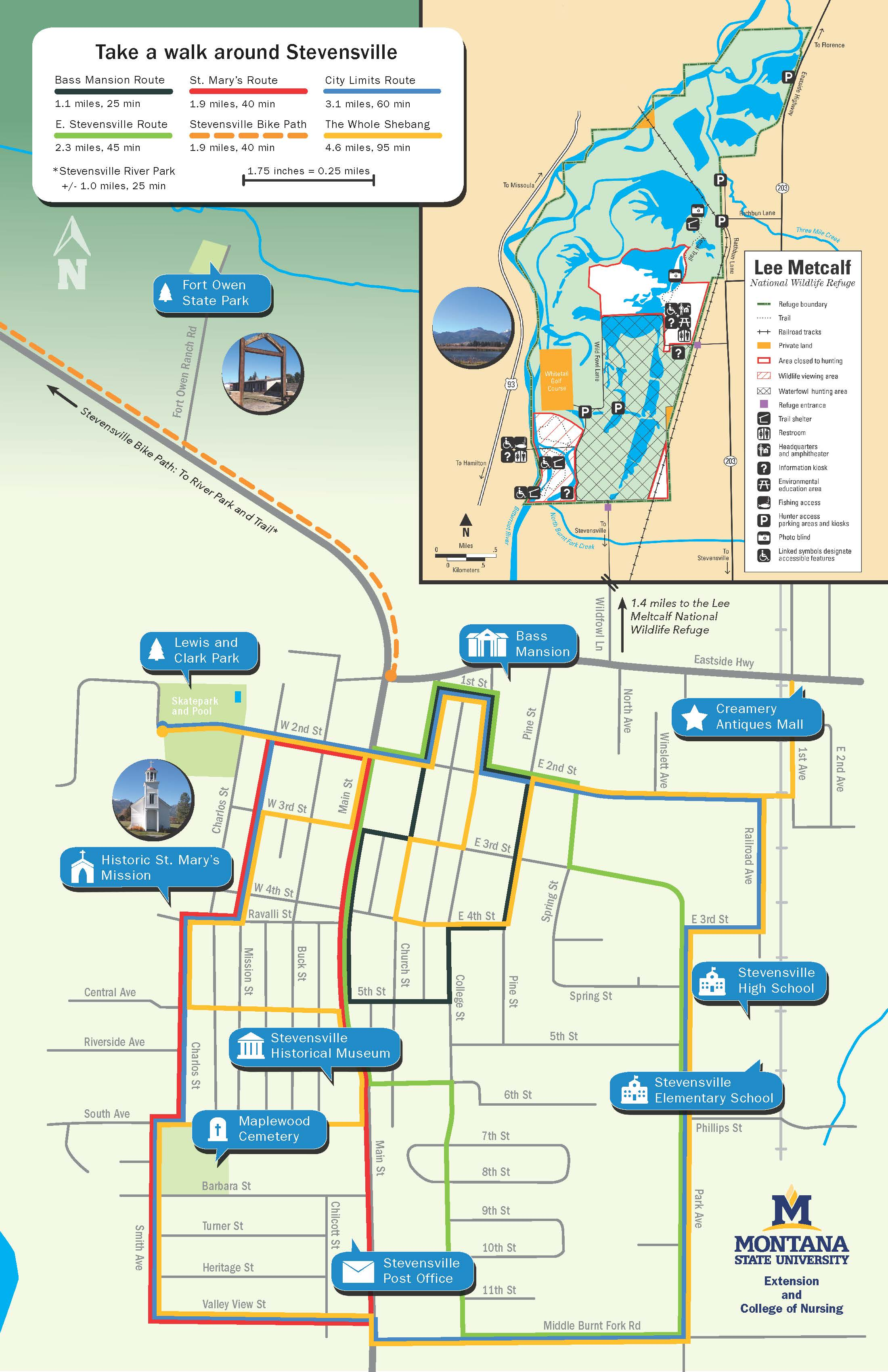 Stevensville Walking Map
